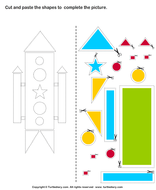 cut and paste worksheet for kids Images - Frompo