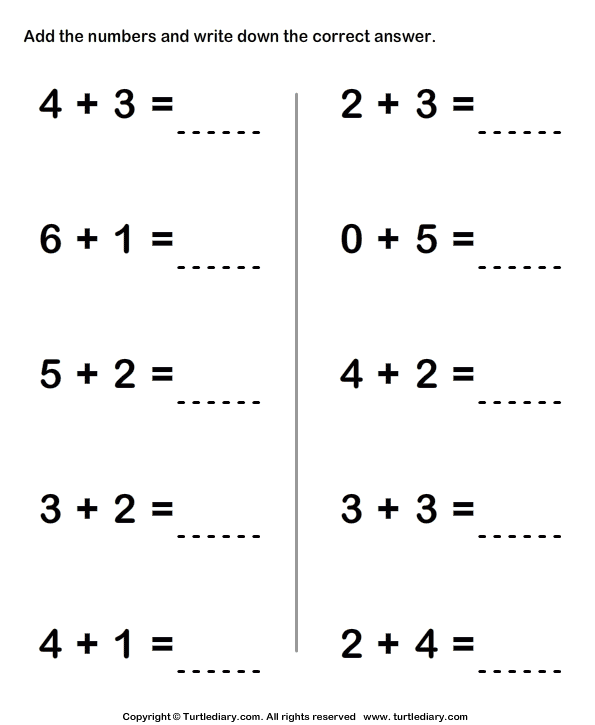 Grade One Math Worksheets Printable Math Addition Worksheets – Math Worksheets First Grade Printable